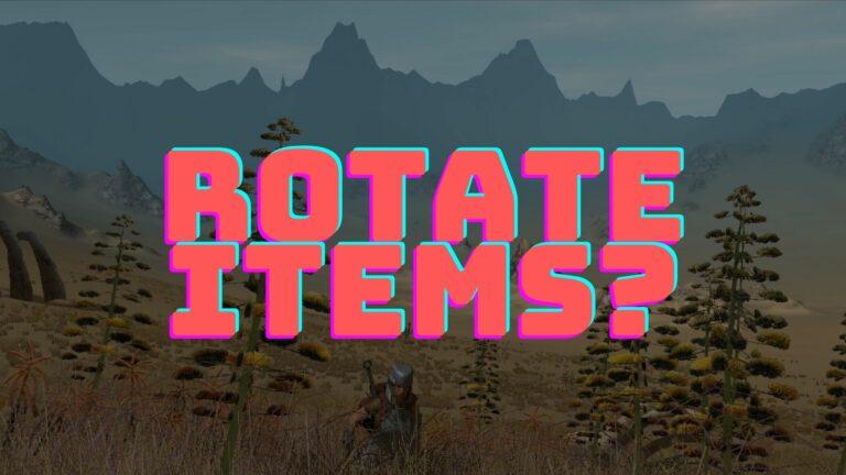 kenshi rotate items
